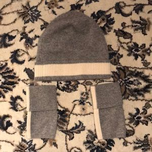 Theory designed hat and gloves set
